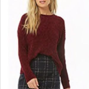Sweaters - Burgundy chenille sweater